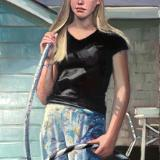 """Hoop Girl 24x48"""" oil"""