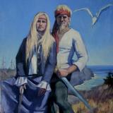 Monhegan Pirates 36x48 oil