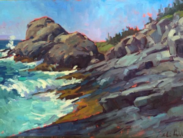 """Gull Rock Impressions 20x30"""" oil"""