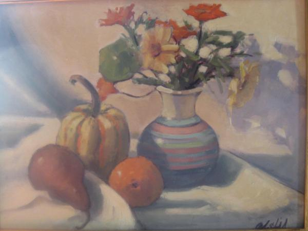 """Late Fall Still life 12x16"""" oil sold"""