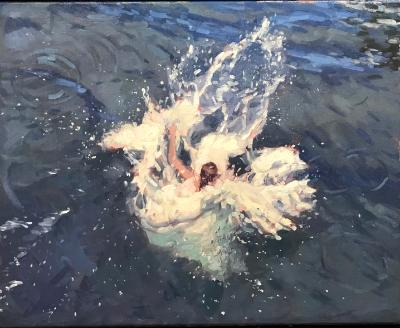 "Splash! 16x20"" oil  sold"