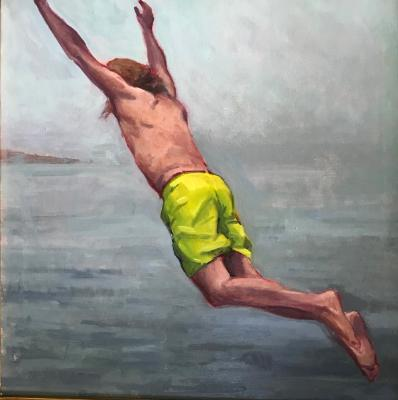 "Jump! 16x20"" oil sold"