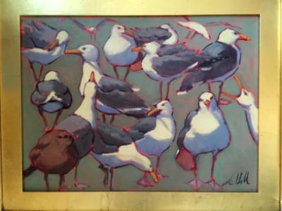 """Sage Gulls 18x24"""" oil sold"""