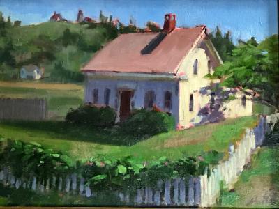 """Monhegan Cottage 12x16"""" oil sold"""