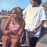 Monhegan Kids 24x42 oil