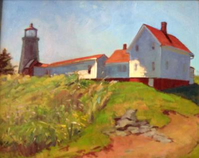 "Lighthouse Field 24x30"" oil sold"