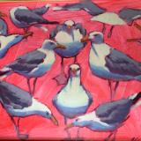 "Gulls on Red 16x20"" oil sold"