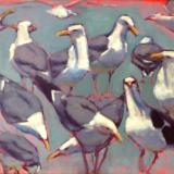 "Bluegreen Gulls 18x24"" oil sold"