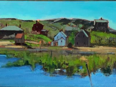 """View From the Meadow in May 12x36"""" oil"""