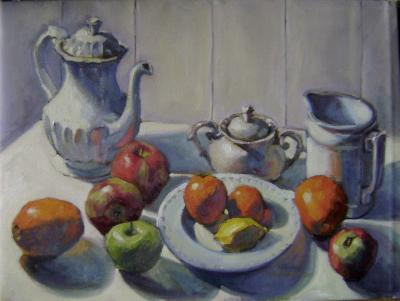 "Winter StillLife 18x24"" oil sold"