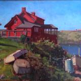 "Morning at the Red House 18x24"" oil"