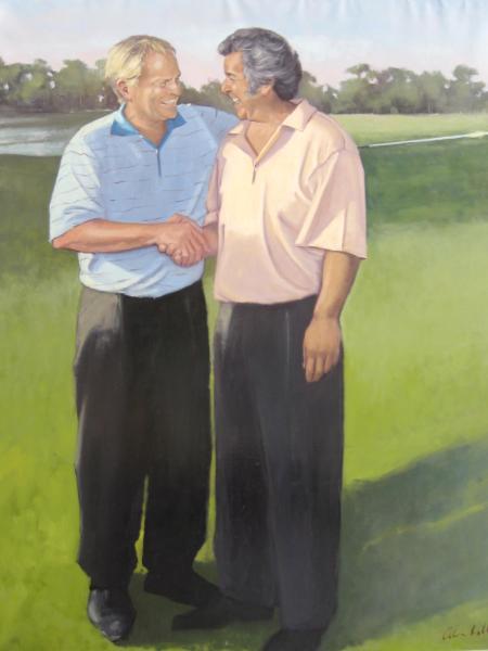 """Jack and Tony  72x60"""" oil"""