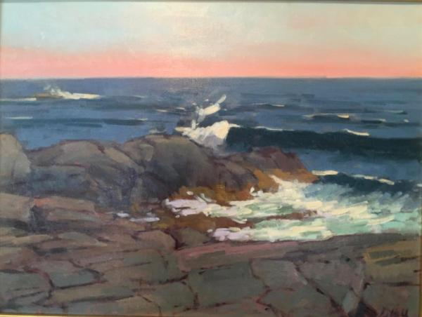 "Lobster Cove Surf 18x24"" oil"