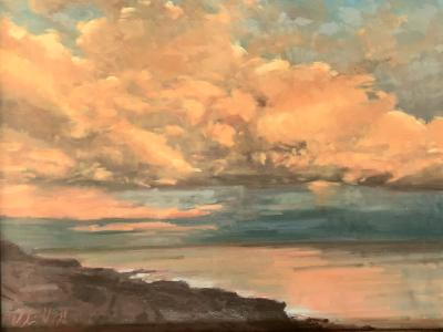 "Sunset Clouds 2 18x24"" oil"