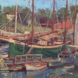 "Camden Harbor  18x24"" oil sold"