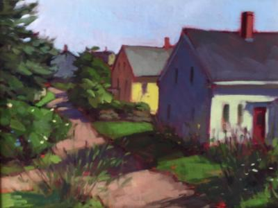 "Monhegan Village 12x16"" oil"