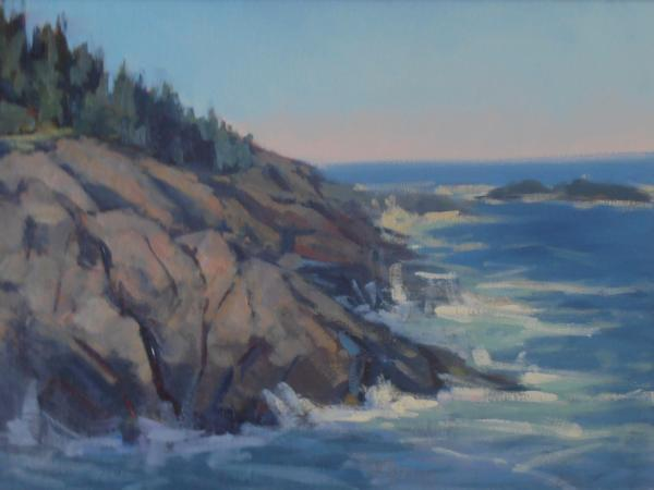 "Christmas Cove 20x30"" oil sold"