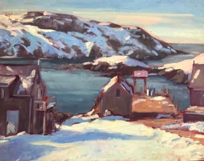 "Winter Dock 16x20"" oil sold"