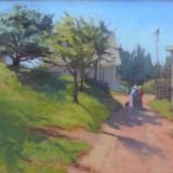 "Monhegan Church 16x20"" oil sold"