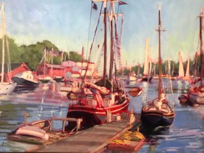 "Camden Harbor 24x36""oil sold"