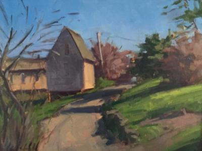 """March Rope Shed 12x16"""" oil"""