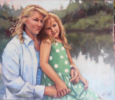 Grace and Sarah 26x30 oil