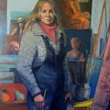 "Self Portrait, 2004 44x72"" sold"