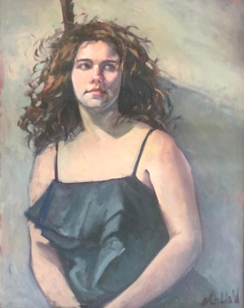 """Party Girl 24x30"""" oil"""