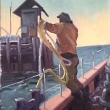 "Docking 24x36"" oil"