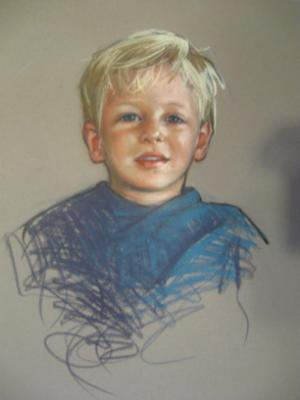 "Young Boy 16x20"" pastel"