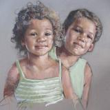 """Brother and Sister 18x24"""" pastel"""