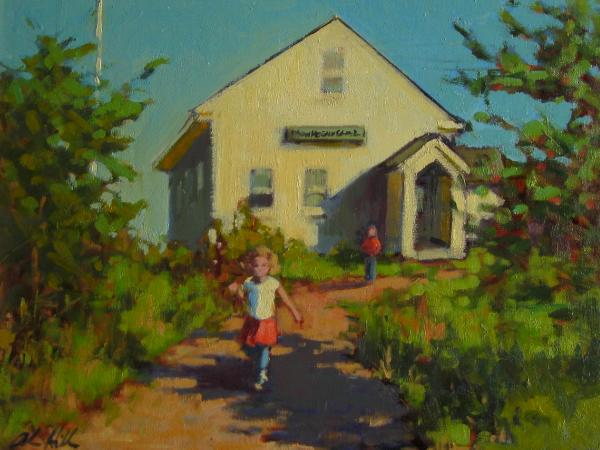 "Coming Home from School 12x16"" oil  sold"