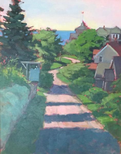 """Road to Town oil 16x20"""""""