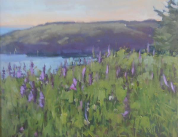 """Mañana and Lupines 16x20"""" oil sold"""