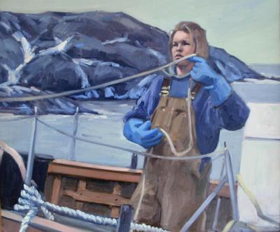 Deck Hand 24x32 oil