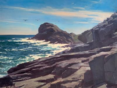 "Gull Rock Surf 30x40"" oil"