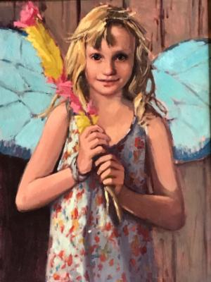 "Fairy Girl 18x24"" oil"