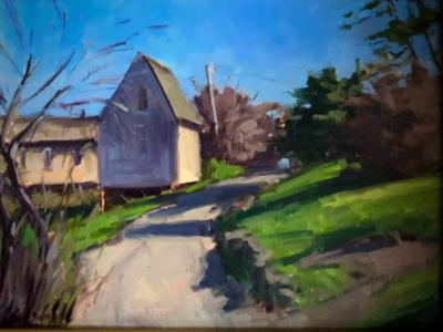 """March Rope Shed 12x16""""oil"""