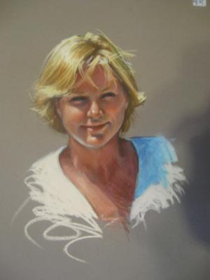 """Woman 16x20"""" pastel"""
