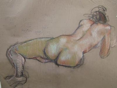 "Female Back  18x24"" pastel"
