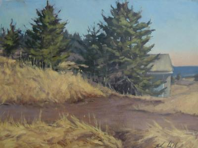 """End of the Road March 18x24"""" oil"""