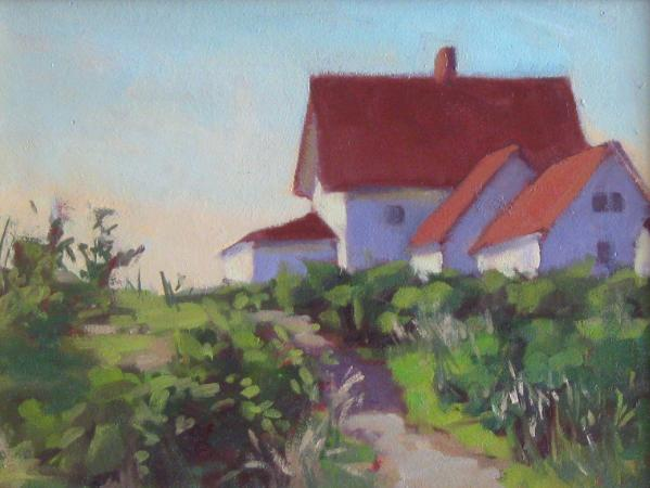 """Path to the Lighthouse  12x16""""  oil"""