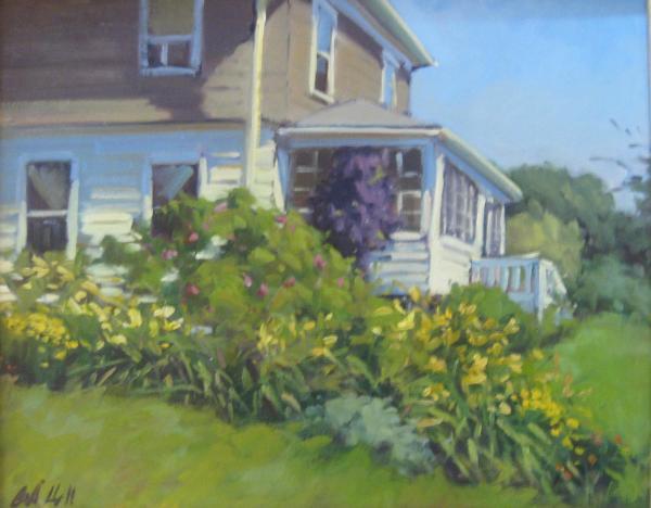 "Kathy's Garden  12""x16""  oil"