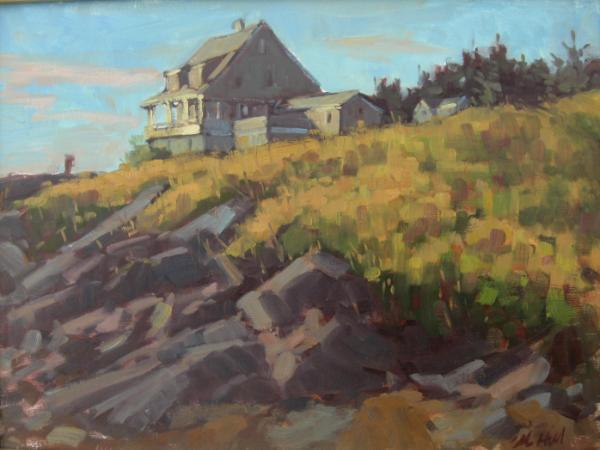 """The Kent house from Lobster Cove 18x24"""" oil  sold"""
