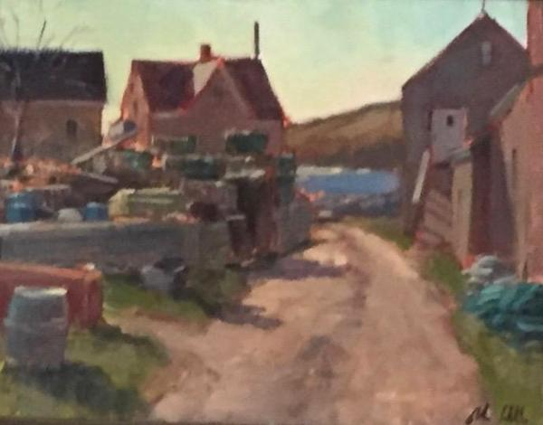 "Fish Beach Road in March 16x20"" oil"