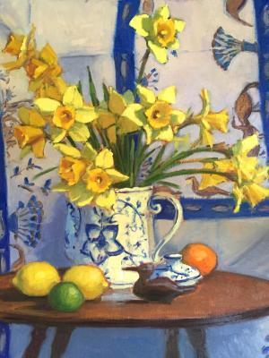 "Egyptian Daffodils 2 18x24"" oil"
