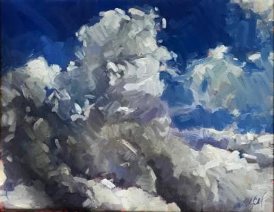 "Clouds 3 16x20"" oil sold"