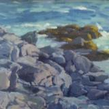 "Rocks and Surf 18x24"" oil sold"
