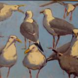 "Blue Gulls  16x20"" oil sold"