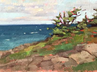 """South End 6x12"""" oil sold"""